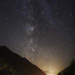 Sterne über dem Paznaun / 22.8.2011 / Kappl (Tirol), Canon Eos 600d, 17-50mm-Objektiv / M. Dähne