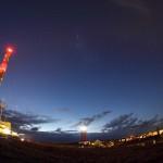 Sterne über Helgoland 10.10.2012 / Canon Eos 600d, 10mm-Fischauge / M. Dähne