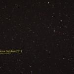 Nova Delphini / 18.8.2013 / TMB 15cm-Apochromat f/6.2, Canon Eos 1000d, ISO800, 8x30 Sek. / F. Steimer