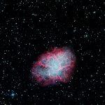 Krebsnebel (M1) / 29.11.2016 / 45cm-Newton-Teleskop f/3.8, SBIG STF8300 M, H-alpha 4x1200 Sek., G/B je 4x300 Sek. / R. Klemm