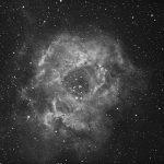 Rosettennebel (NGC2237-46) / 23.3.2019 / Esprit 80/400mm-Refraktor, ASI1600MMC, H-Alpha-Filter, 102x35 Sek. / A.-M. Deckwerth