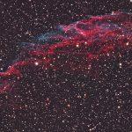 Cirrusnebel (NGC6992) / 23.8.2017 / TMB 15cm-Apochromat f/6.2, ASI1600MMC, 120 Min. / F. Steimer