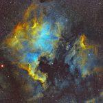Nordamerikanebel (NGC7000) / 4.-7.6.2019 / Vixen FL55SS, ASI1600MMC, H-Alpha-/OIII-/SII-Filter, 270 Min. / F. Steimer