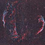 Cirrusnebel / 3.7.2019 / Vixen FL55SS, ASI1600MMC, H-Alpha-/OIII-Filter, 330 Min. / F. Steimer