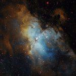 Adlernebel (M16) / 5.7.2019 / 45cm-Newton-Teleskop f/3.8, SBIG STF8300 M, H-alpha-/OIII-/SII-Filter, 120 Min. / R. Klemm
