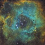 2020-02-15 / Rosettennebel um NGC2244 / 910mm F7 - Filter Ha/OIII/SII - ASI1600MMC - 180min / Dr. P.Nemes