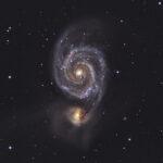 2021-03-06 / M51 und NGC5195 / CFF165 980mm F5,9 - ASI294MM - 3h / F.Steimer