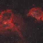 2021-09-08 / IC1848 und IC1805 (Herz- und Seelen-Nebel) / Vixen FL55SS 240mm F4,3 - Filter HO - ASI2600MC - 120min / F.Steimer